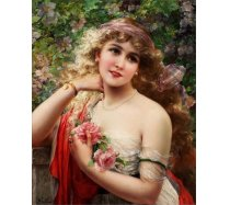 Gold Puzzle - 1000 darabos - 60515 - Young lady with a rose