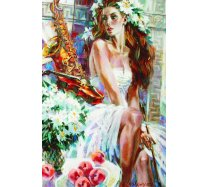 Gold - 1500 darabos -061079- Girl with Peaches and Saxophone