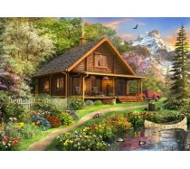 Bluebird - 500 darabos -70118- A Log Cabin Somewhere in North America