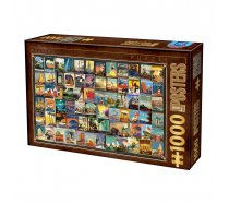 D-Toys - 1000 darabos -74621 - Vintage Collage - Travel