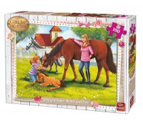 King - 100 Pieces -05297- Girl & Horses