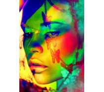 Grafika - 1000 darabos -00657 - Woman Color Face Art