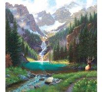 Sunsout - 1000 darabos - 52982 - Mark Keathley - Elk at the Waterfall