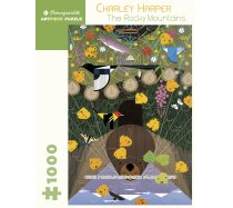 Pomegranate Puzzle - 1000 darabos - AA638 - Charley Harper - The Rocky Mountains